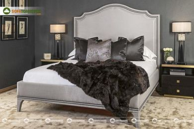 Giường ngủ bọc vải mã 67