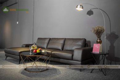 Ghế sofa da màu xám nâu mã 202