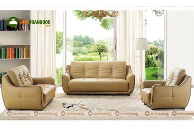 Bộ bàn ghế sofa da phòng khách mã 206