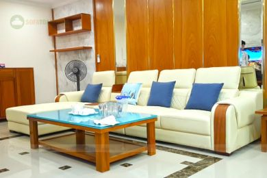 Mẫu sofa da đẹp cho phòng khách mã 208