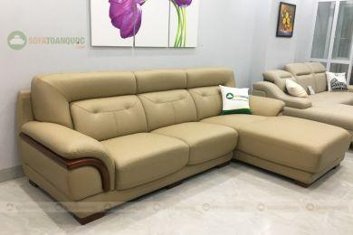 Mẫu sofa phòng khách góc l bọc da mã 207