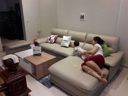 Bàn Giao Bộ Ghế Sofa + Bàn Trà + Thảm Trang Trí Chị vân - Nguyễn Sơn - Long Biên - Hà Nội