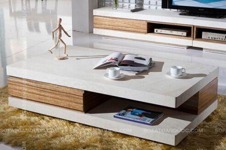Mẫu bàn trà gỗ decor cho sofa cách tân mã 07