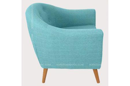Mẫu ghế sofa đơn cho nhà hàng màu xanh ngọc mà 02-1