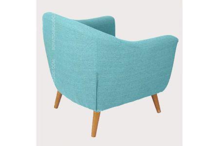 Mẫu ghế sofa đơn cho nhà hàng màu xanh ngọc mà 02-2