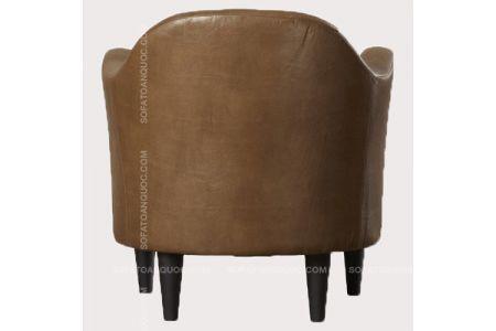 Mẫu sofa đơn giả da màu nâu mã 12-2