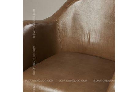 Mẫu sofa đơn giả da màu nâu mã 12-1