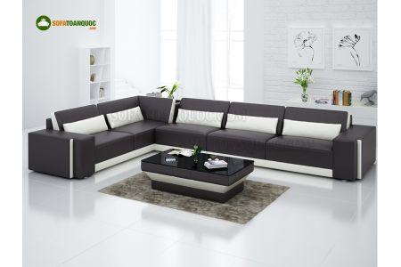 Mẫu bộ ghế sofa da với chất liệu nhập khẩu từ Hàn Quốc mã 82