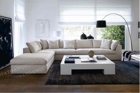 Mẫu ghế sofa vải nỉ kiểu hàn quốc mã 57