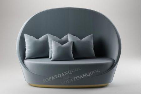 Mẫu ghế sofa văng đơn vải tròn hình lòng chảo mã 11