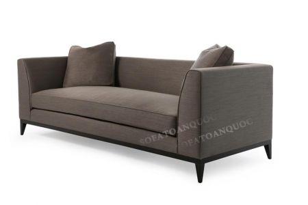 Ghế sofa văng đẹp màu xám cho phòng khách dài hẹp mã 23