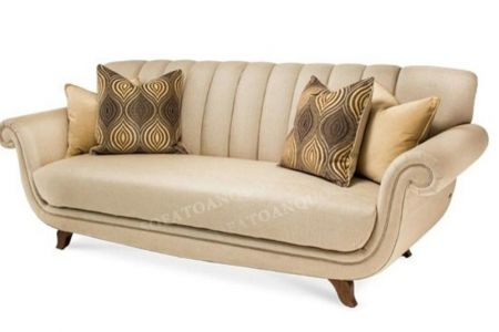 Ghế sofa văng bọc nỉ nhỏ đẹp kiểu dáng cổ điển sang trọng mã 31