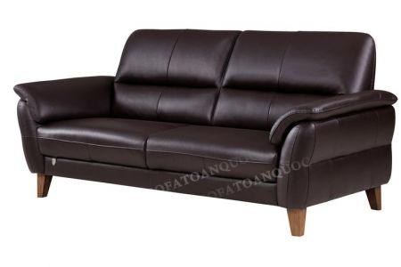 Mẫu sofa văng đơn màu mận nâu bọc da đẹp mã 86-1