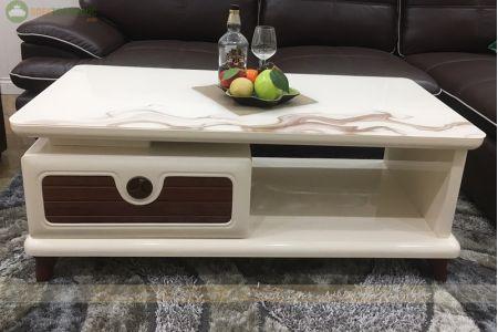 Bàn sofa mặt kính màu trắng mã 801