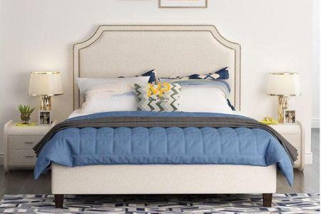 Giường ngủ bọc vải đẹp cao cấp mã 77