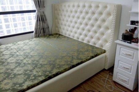 Giường ngủ bọc vải tân cổ điển đẹp mã 74