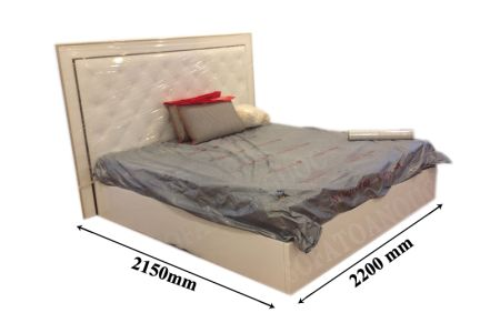 Giường ngủ bọc da mã 13