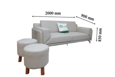 Sofa văng đơn chiếc băng dài bọc da mã 156
