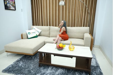 Sofa bọc da đệm vải đẹp mã M11