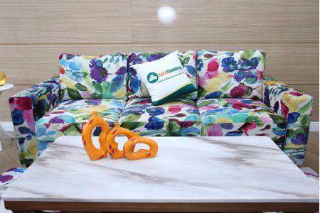 Sofa vải hoa nhiều màu sắc độc đáo mã MV02