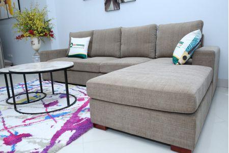 Sofa vải màu xám đẹp mã TNV01B