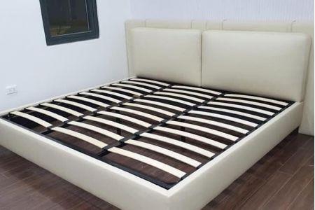 Giường ngủ bọc da mã 117