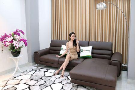 Sofa da phong cách hiện đại mã m14b