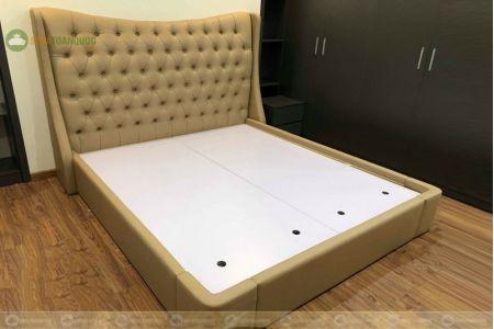 Giường bọc da cổ điển kích thước 2000mm mã 86