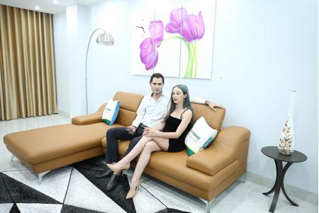 Sofa da microfiber cao cấp mã TN03C