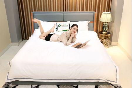 Giường ngủ bọc da mã MG01