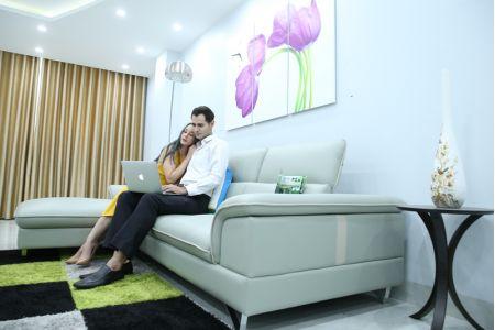 Sofa màu xanh ngọc đẹp mã M12A