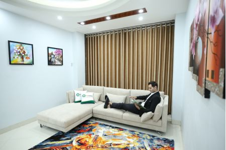 Sofa vải Acacia Bỉ  màu ghi 2900 mã MV03