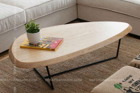 Mẫu bàn trà chân sắt đẹp hình tam giác giá rẻ mã 44