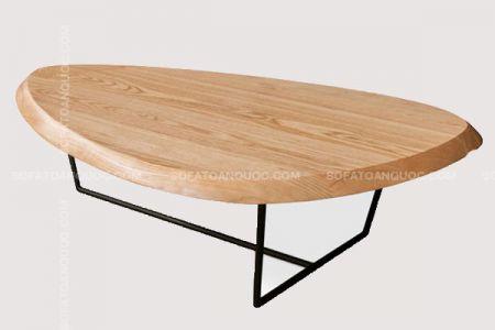 Mẫu bàn trà chân sắt đẹp hình tam giác giá rẻ mã 44-2