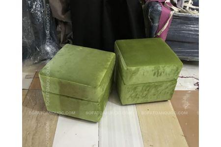 Mẫu Đôn Sofa Bọc Nỉ Nhung Màu Xanh Ngọc Mã 01