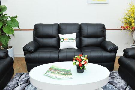 Sofa da khung thép màu đen nhập khẩu mã TQ-05-11