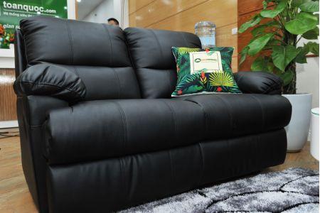 Sofa da khung thép màu đen nhập khẩu mã TQ-05-12