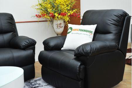 Sofa da khung thép màu đen nhập khẩu mã TQ-05-13