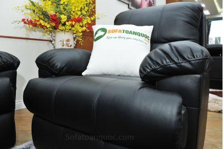 Sofa da khung thép màu đen nhập khẩu mã TQ-05-14