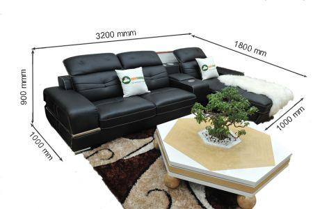 kích thước ghế sofa da sdn03t