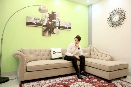 ghế sofa vải tân cổ điển mã 40