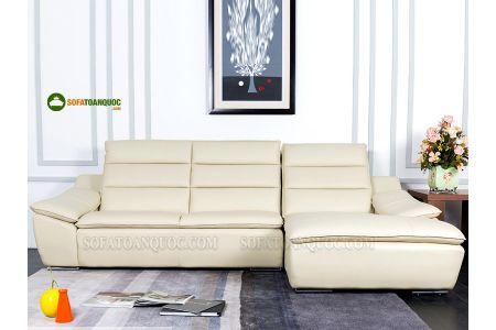 Sofa da màu trắng kem sang trọng mã 110