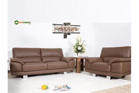 Bộ ghế sofa da màu nâu cho người mệnh thổ mã 130