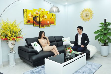 Bộ bàn ghế sofa cho phòng khách nhỏ mã TN01T-1