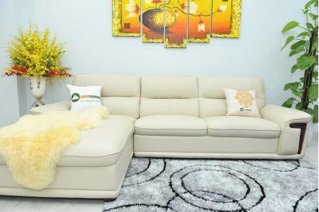 Bộ ghế sofa giả da cao cấp nhập khẩu mã QVF1623P-9