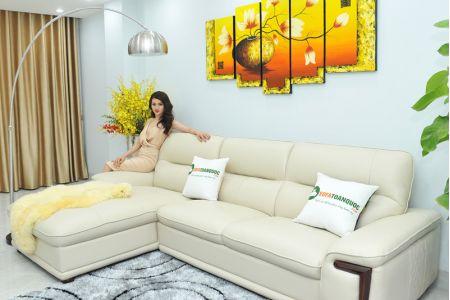 Bộ ghế sofa giả da cao cấp nhập khẩu mã QVF1623P-2