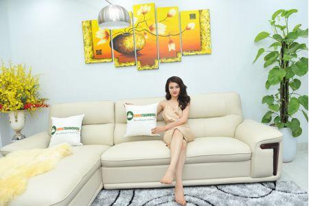 Bộ ghế sofa giả da cao cấp nhập khẩu mã QVF1623P-5