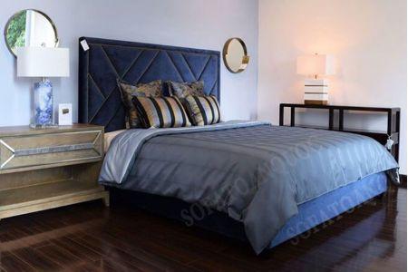 giường ngủ bọc vải mã 06-2