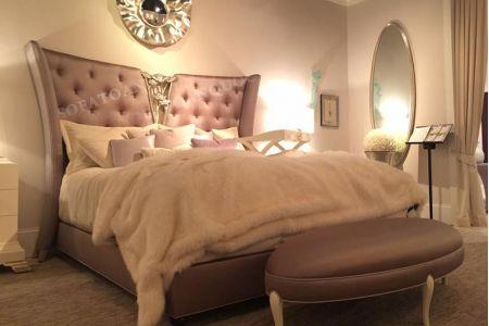 Giường ngủ bọc vải tân cổ điển mã 08