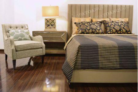 Giường ngủ bọc vải mã 50